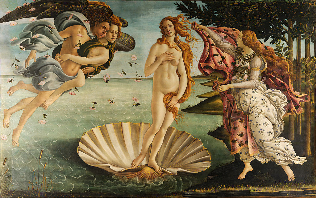 The Birth of Venus by Sandro Botticelli in the Uffizi Gallery in Florence