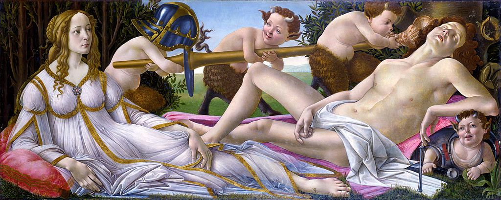Venus and Mars by Sandro Botticelli in the National Gallery in London