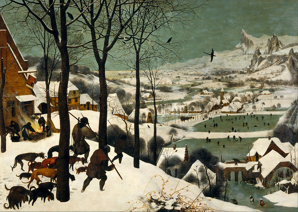 Hunters in the Snow by Pieter Bruegel the Elder in the Kunsthistorisches Museum in Vienna
