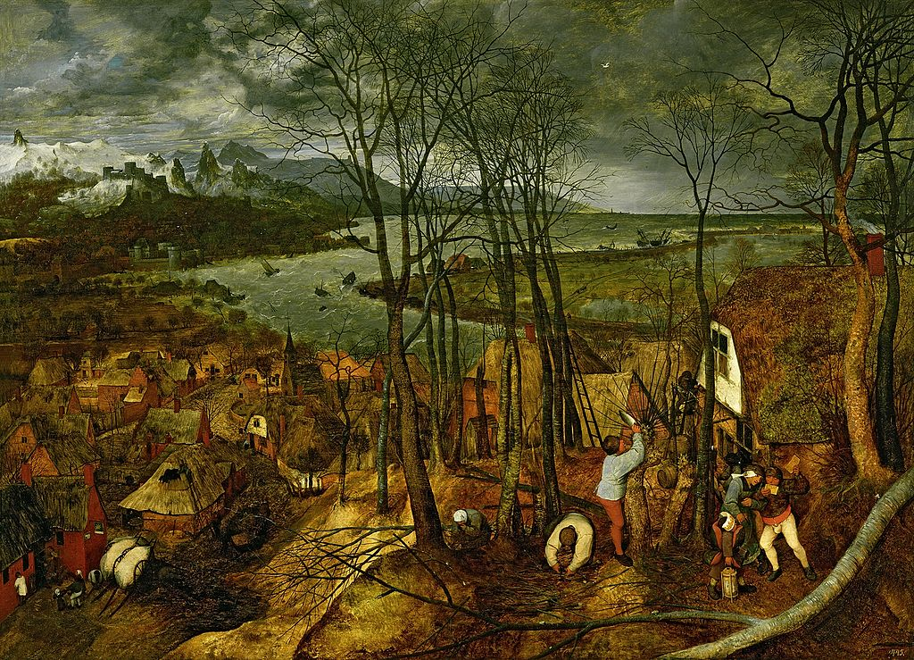 The Gloomy Day by Pieter Bruegel the Elder in the Kunsthistorisches Museum in Vienna