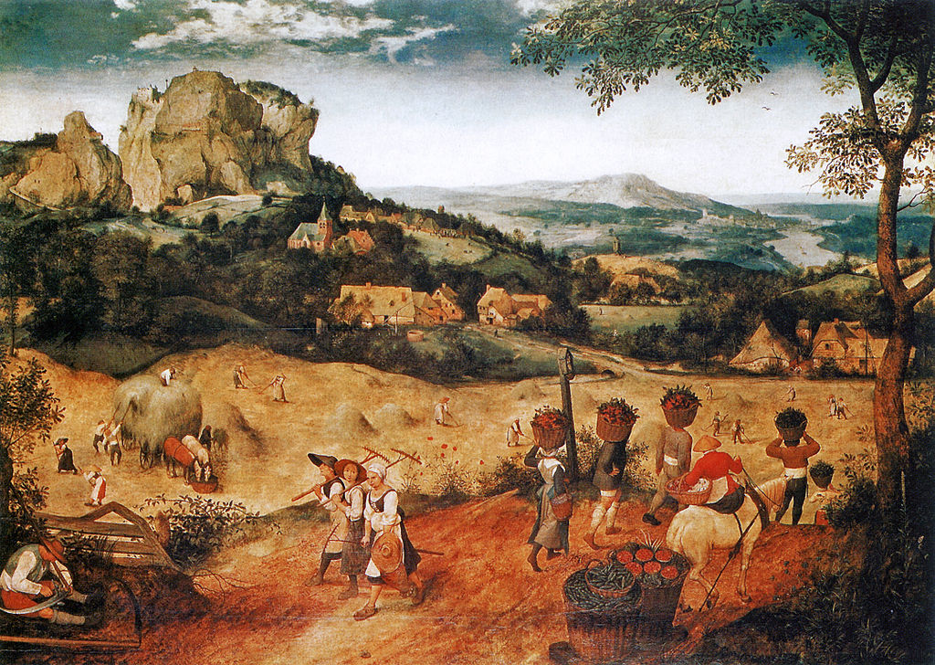 The Hay Harvest by Pieter Bruegel the Elder in Lobkowicz Palace in Prague Castle