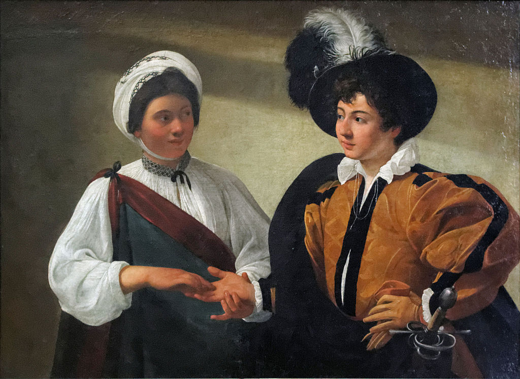 The Fortune Teller by Caravaggio in the Louvre Museum in Paris