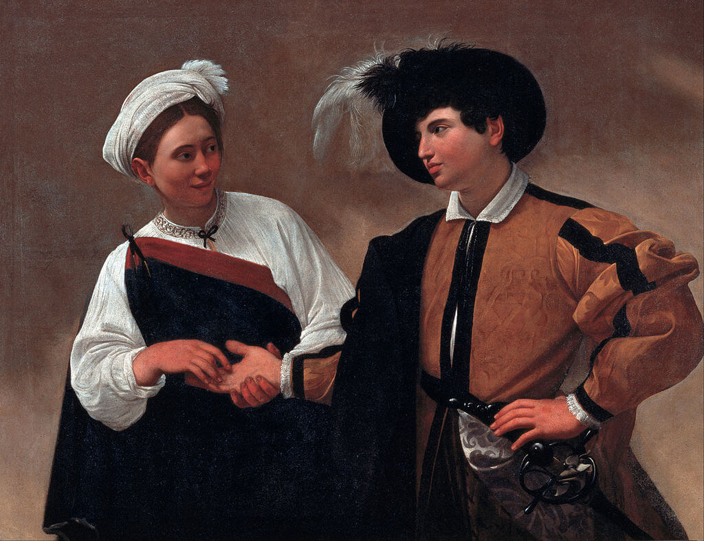 The Fortune Teller by Caravaggio in the Capitoline Museums in Rome