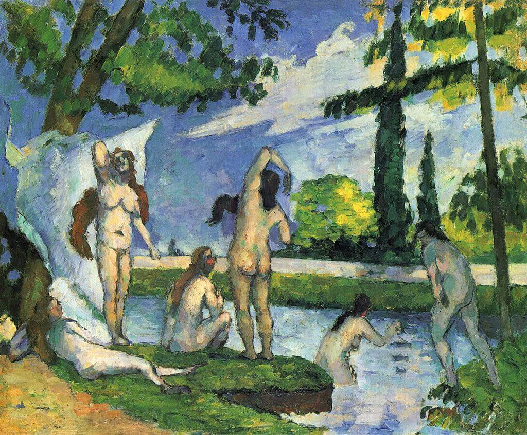 Bathers by Paul Cézanne in the Metropolitan Museum of Art in New York