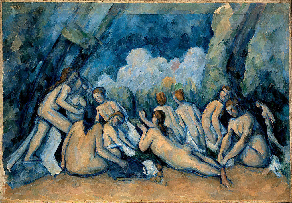 Bathers by Paul Cézanne in the National Gallery in London