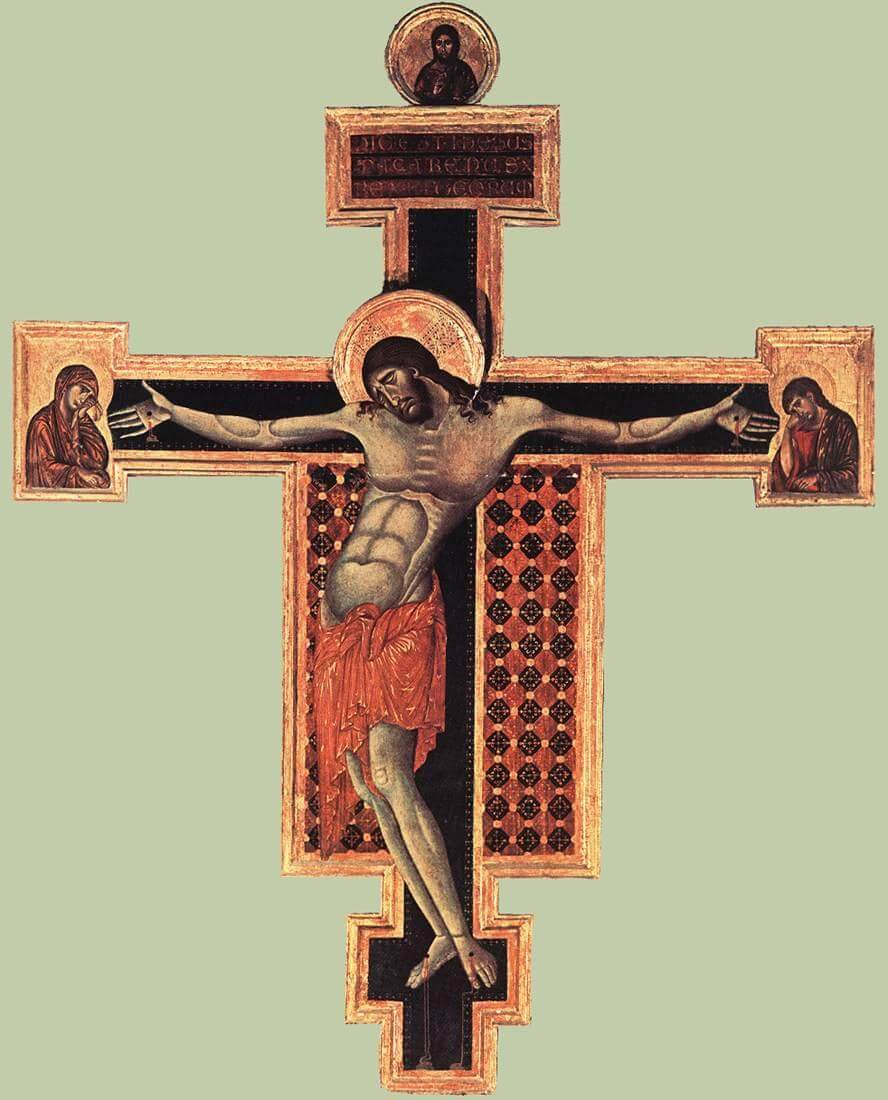 Crucifix by Cimabue in the Basilica di Santa Croce in Florence