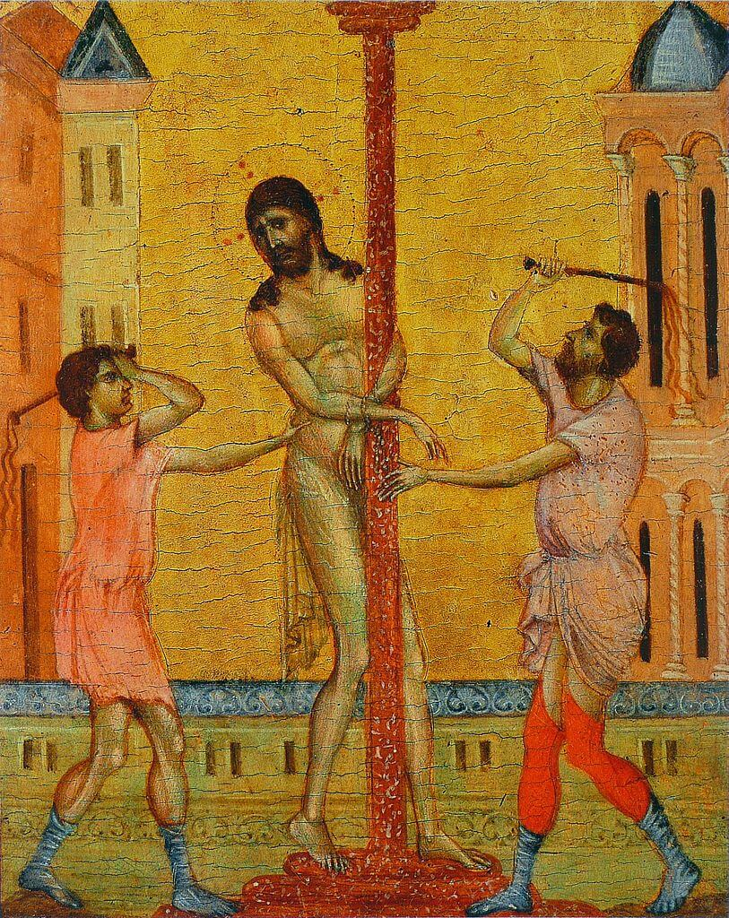 The Flagellation of Christ by Cimabue in the Frick Collection in New York
