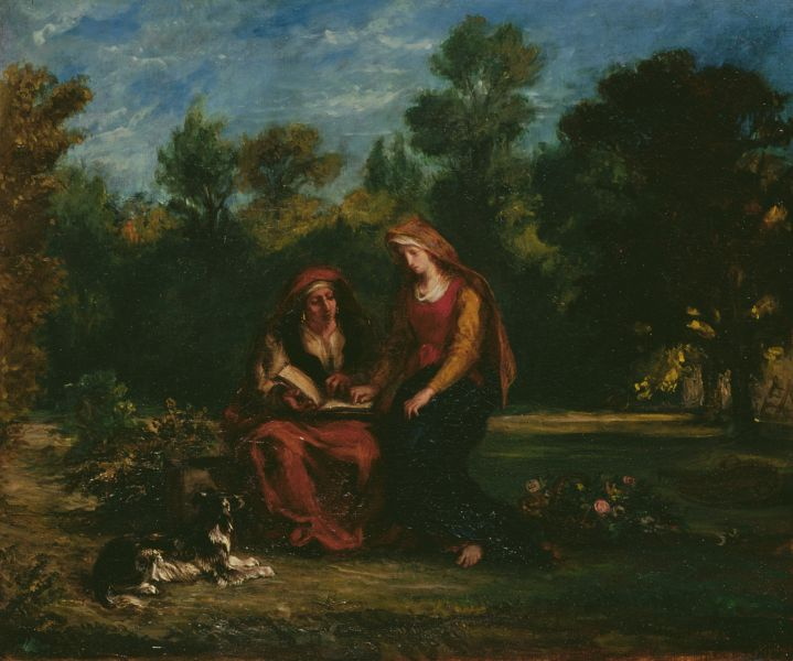 Education of the Virgin by Eugene Delacroix in the Louvre in Paris