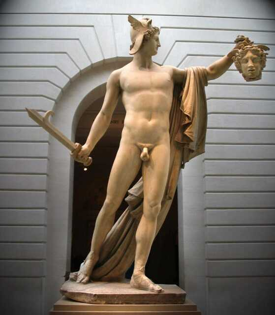 Perseus with the Head of Medusa by Antonio Canova in the Metropolitan Museum of Art in New York