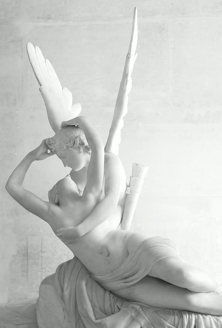 Psyche Revived by Cupid's Kiss by Antonio Canova in the Louvre Museum in Paris