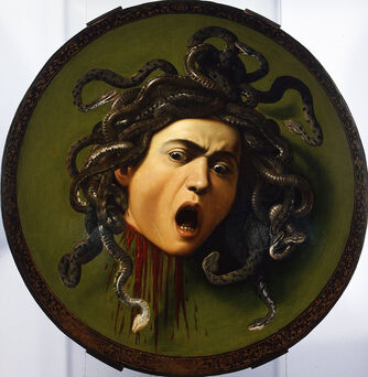 Medusa by Caravaggio in the Uffizi Gallery in Florence