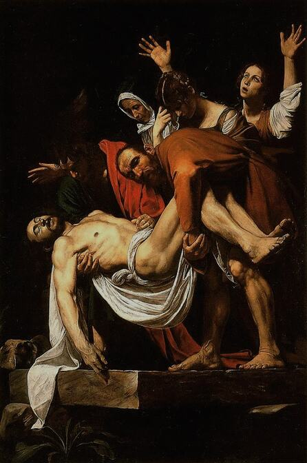 The Entombment of Christ by Caravaggio in the Vatican Museums in Rome
