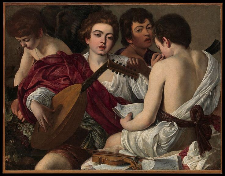 The Musicians by Caravaggio in the Metropolitan Museum of Art in New York