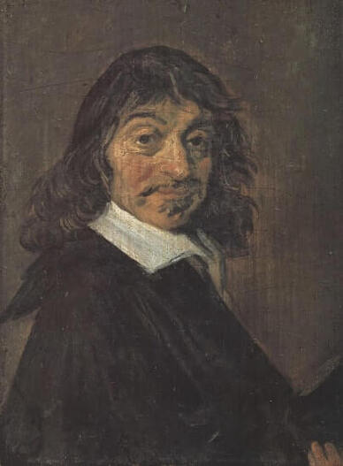 Portrait of Rene Descartes by Frans Hals in the Statens Museum for Kunst in Copenhagen