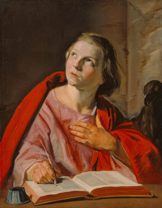 Saint John the Evangelist by Frans Hals in the Getty Center in Los Angeles