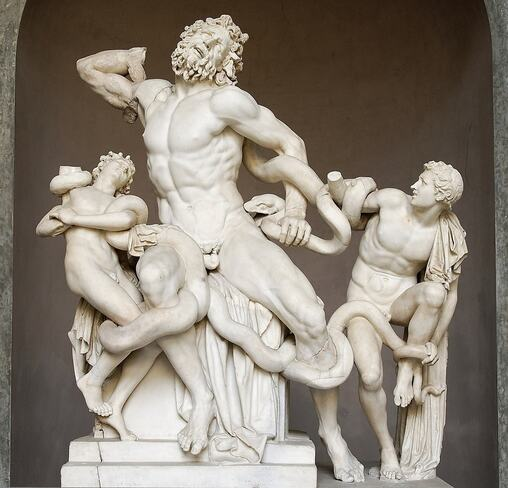 Laocoon and His Sons in the Vatican Museums in Rome