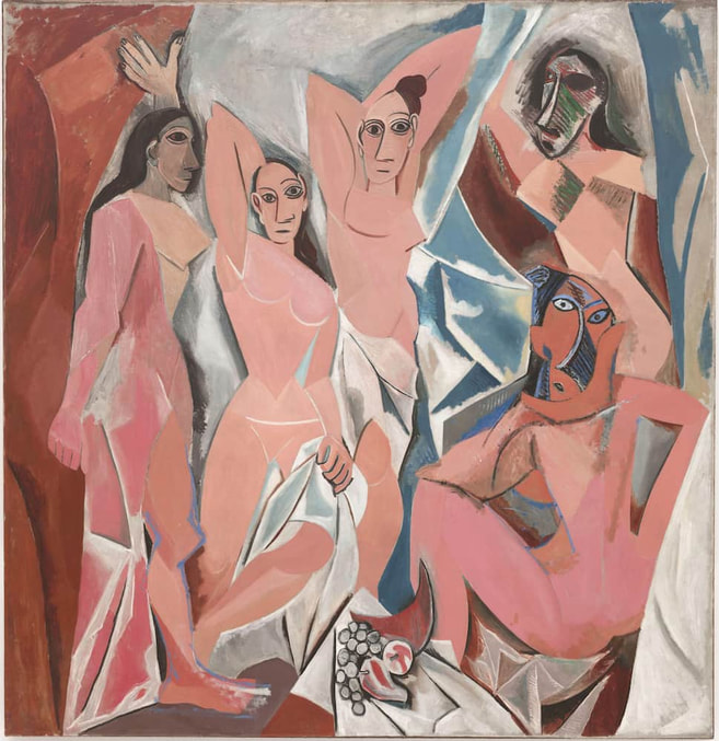 Les Demoiselles d'Avignon by Pablo Picasso in the Museum of Modern Art (MoMA) in New York