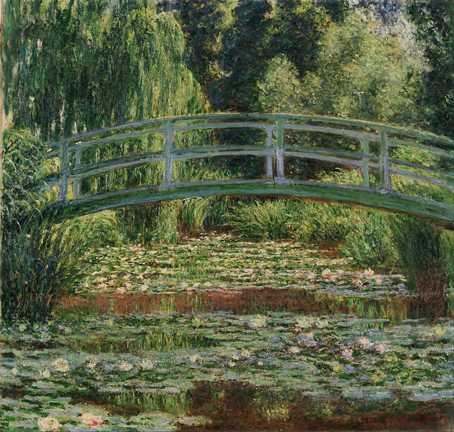 The Japanese Footbridge and the Water Lily Pool, Giverny by Claude Monet in the Philadelphia Museum of Art