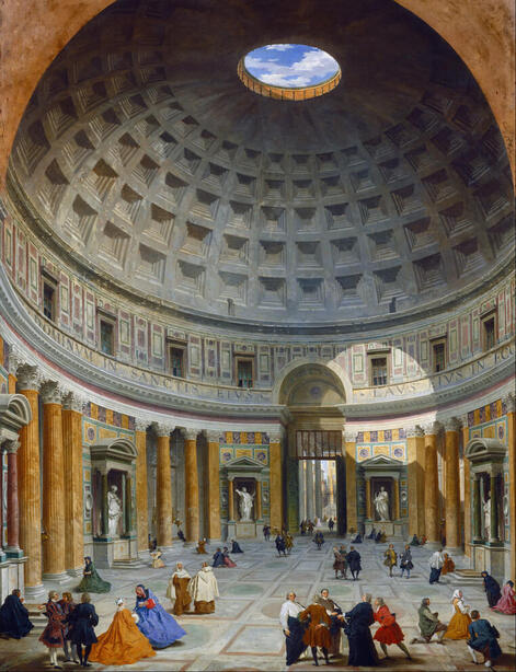 Interior of the Pantheon (National Gallery of Art) by Giovanni Paolo Panini