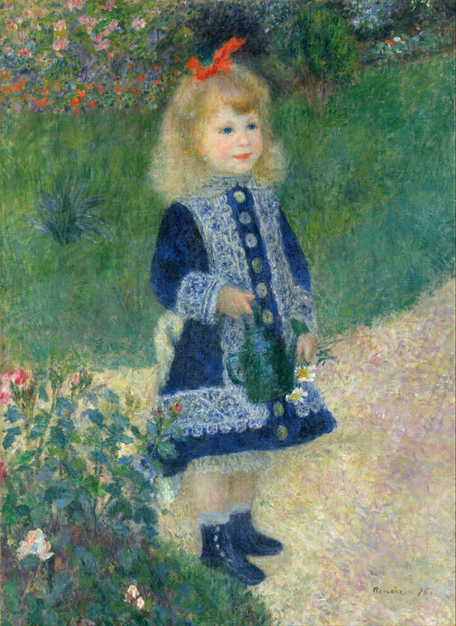 A Girl with a Watering Can by Pierre-Auguste Renoir in the National Gallery of Art in Washington, DC