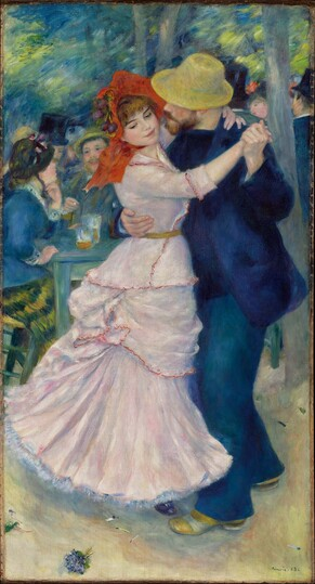 Dance at Bougival by Pierre-Auguste Renoir in the Museum of Fine Arts in Boston