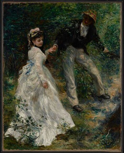 La Promenade by Pierre-Auguste Renoir in the J. Paul Getty Museum in Los Angeles