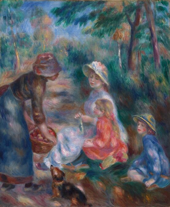The Apple Seller by Pierre-Auguste Renoir in the Cleveland Museum of Art