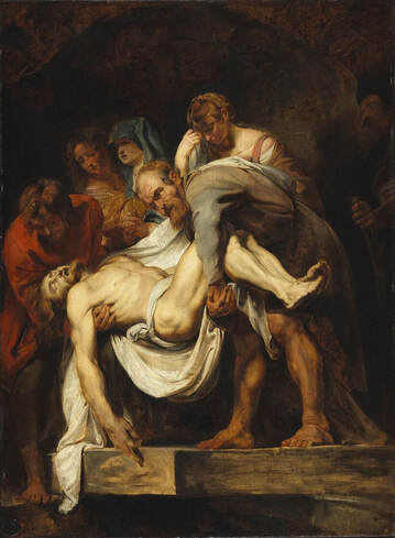 The Entombment by Peter Paul Rubens in the National Gallery of Canada