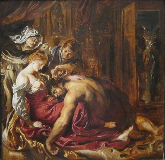 Preliminary study for Samson and Delilah by Peter Paul Rubens