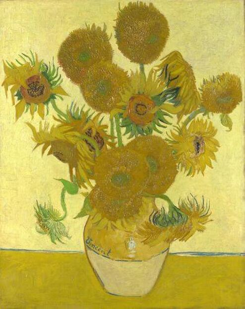 Sunflowers by Vincent van Gogh in the National Gallery in London