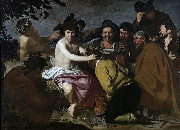 The Triumph of Bacchus by Diego Velázquez in the Prado Museum in Madrid