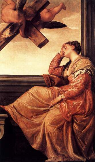 The Vision of Saint Helena by Paolo Veronese in the National Gallery in London