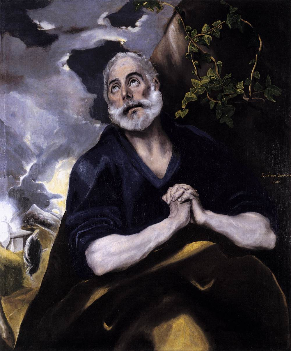 St Peter in Penitence by El Greco (Bowes Museum)