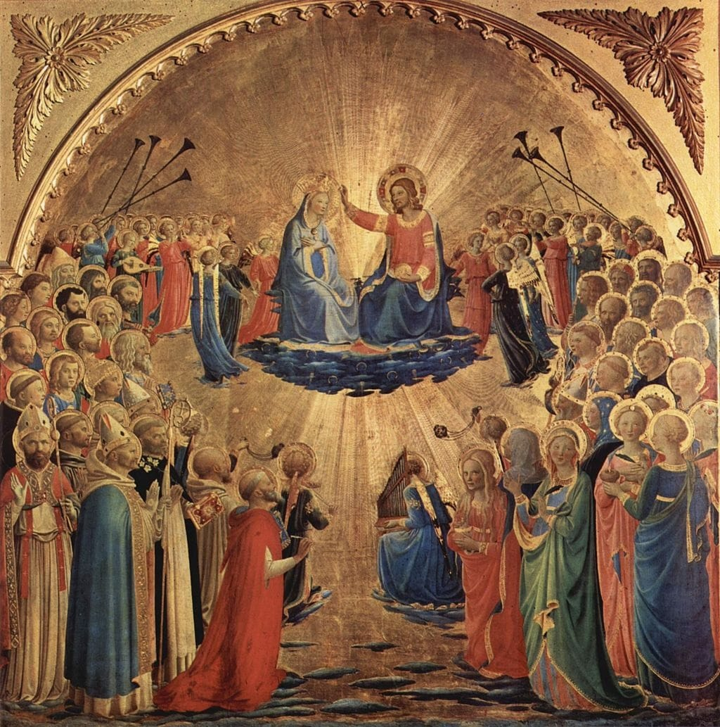 Coronation of the Virgin by Fra Angelico in the Uffizi Museum in Florence