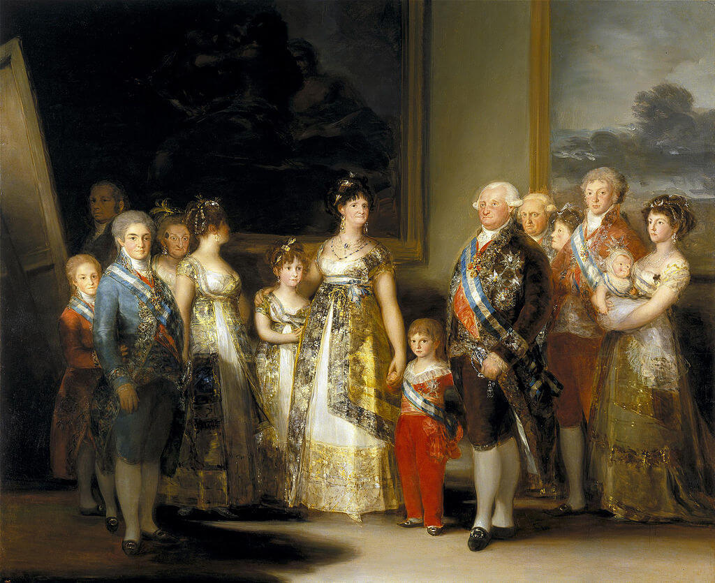 Charles IV of Spain and His Family by Francisco Goya in the Prado Museum in Madrid