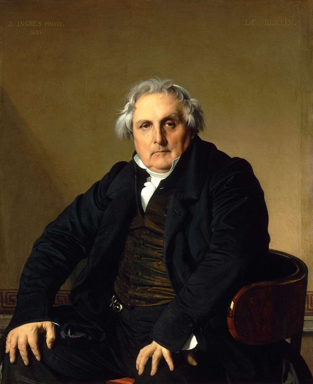 Portrait of Monsieur Bertin by Jean-Auguste-Dominique Ingres in the Louvre Museum in Paris