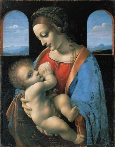 Madonna Litta by Leonardo da Vinci in the Hermitage Museum in St. Petersburg
