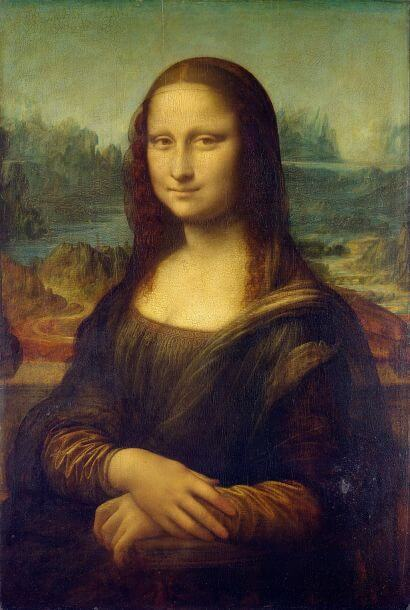 Mona Lisa by Leonardo da Vinci in the Louvre in Paris