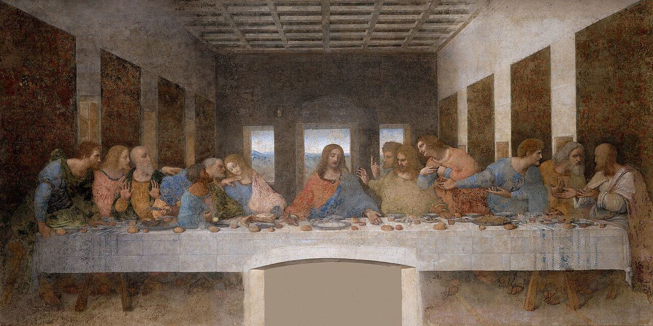 The Last Supper by Leonardo da Vinci in the Santa Maria delle Grazie Dominican Church and Convent in Milan