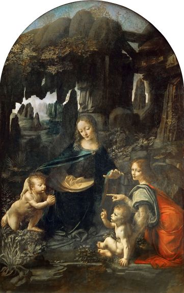 Virgin of the Rocks by Leonardo da Vinci in the Louvre in Paris
