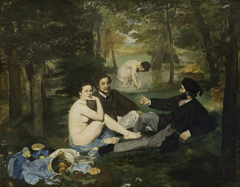 Luncheon on the Grass by Edouard Manet in the Musee d'Orsay in Paris