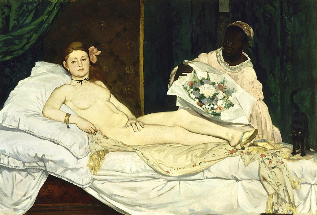 Olympia by Edouard Manet in the Musee d'Orsay in Paris