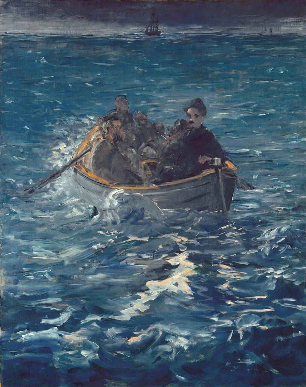 Rochefort's Escape by Edouard Manet in the Kunsthaus Zurich