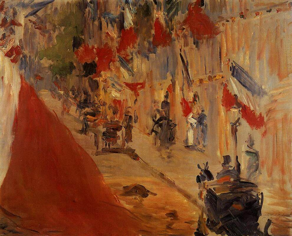 Rue Mosnier Decorated with Flags by Edouard Manet