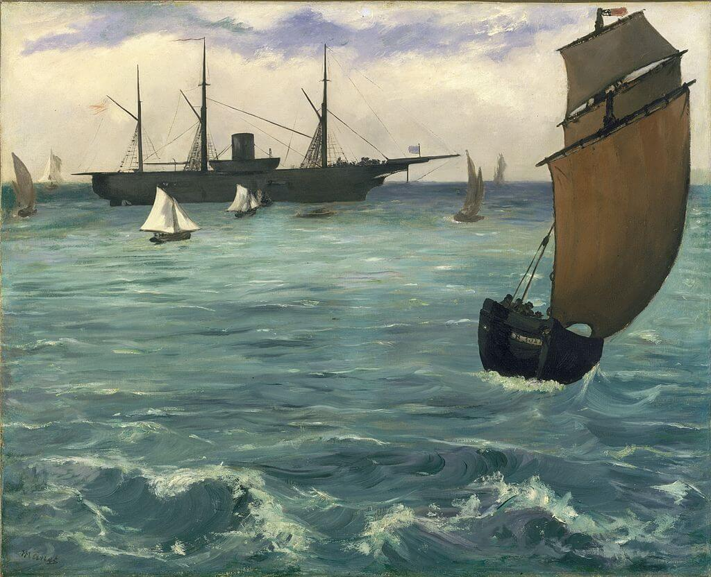 The Kearsarge at Boulogne by Edouard Manet in the Metropolitan Museum of Art in New York