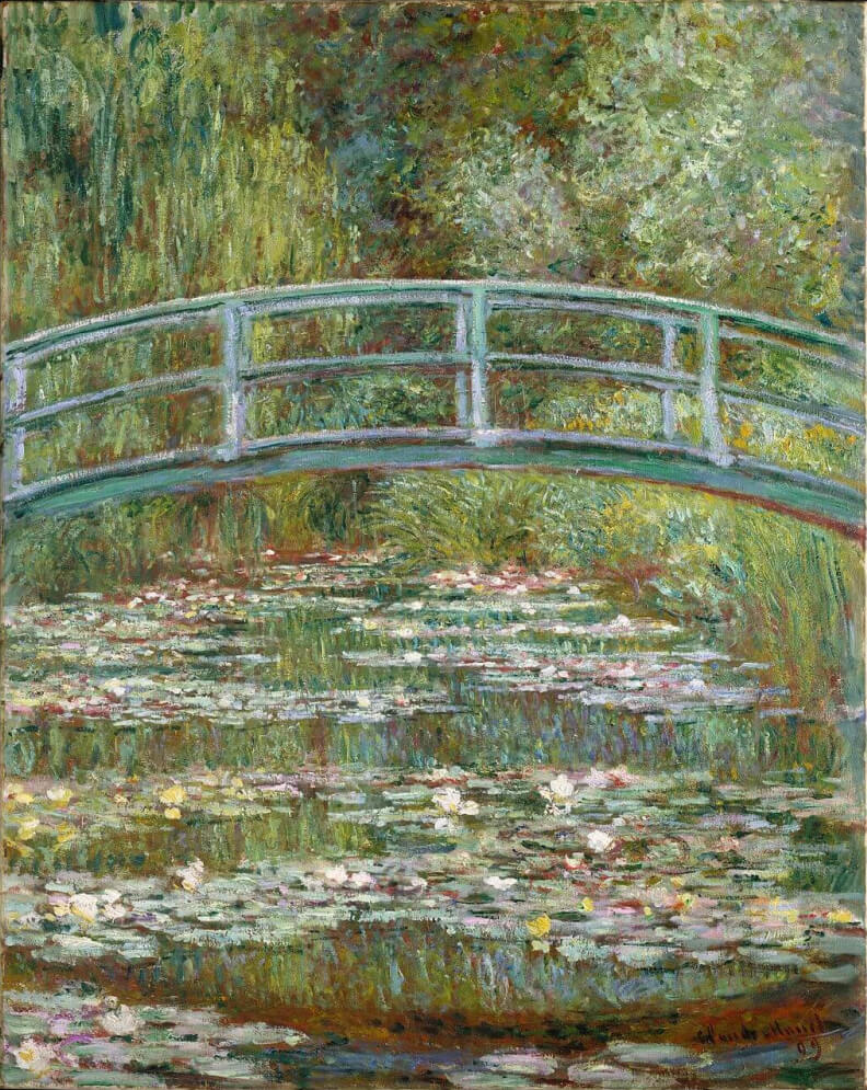 Bridge over a Pond of Water Lilies by Claude Monet in the Metropolitan Museum of Art in New York