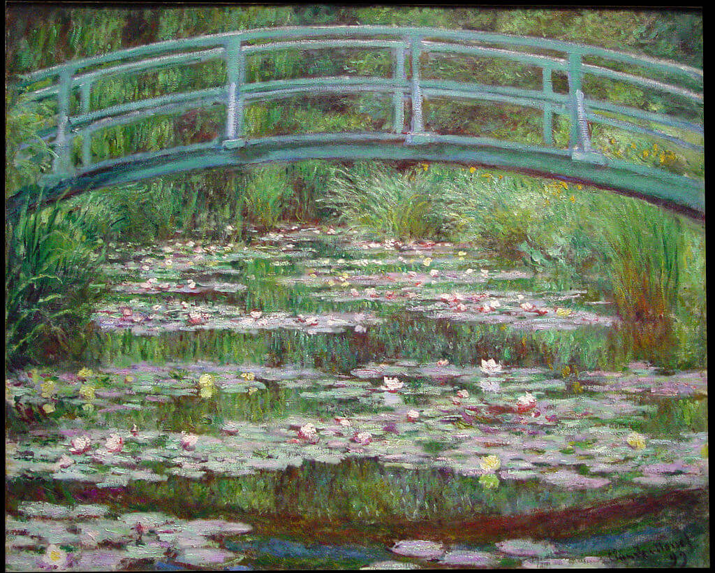The Japanese Footbridge by Claude Monet in the National Gallery of Art in Washington, DC