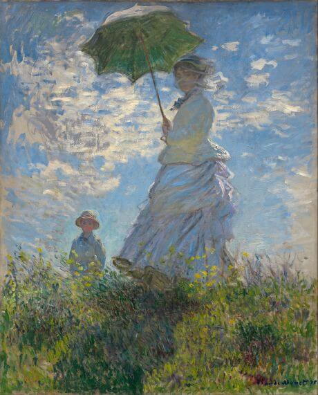Woman with a Parasol - Madame Monet and Her Son by Claude Monet in the National Gallery of Art in Washington, DC