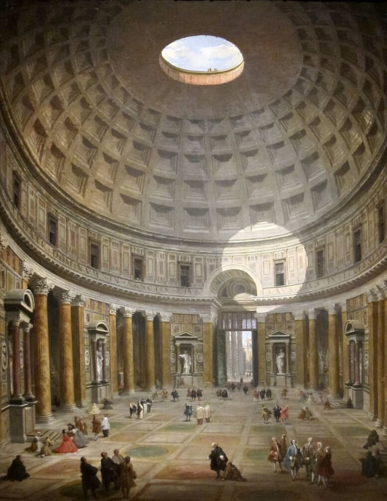 Interior of the Pantheon by Giovanni Paolo Panini in the Cleveland Museum of Art
