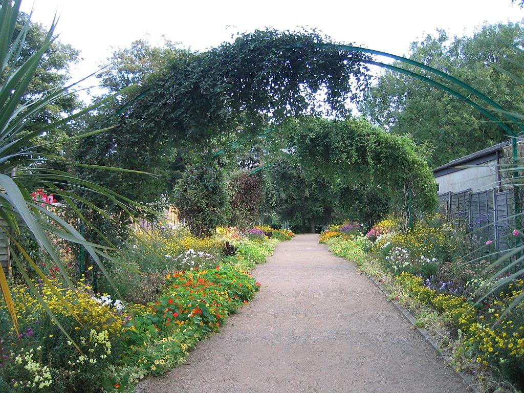 Part of the flower garden of Claude Monet in Giverny